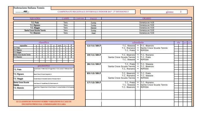 campionato regionale invernale indoor 2 divisione femm_calendario